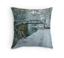 Murray`s Bridge Looking North - HDR Throw Pillow