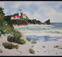 Lighthouse in Sand by Trudy Veitch