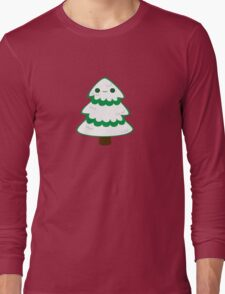 Cute tree with snow Long Sleeve T-Shirt