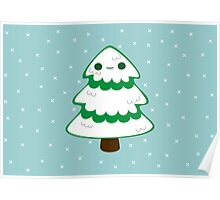 Cute tree with snow Poster