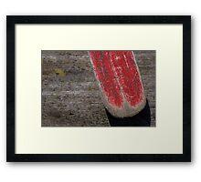 The red oar Framed Print