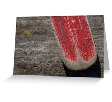 The red oar Greeting Card