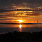 Sunset over the The Mersey by Tony Parry