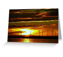 Sunset over the The Mersey Greeting Card