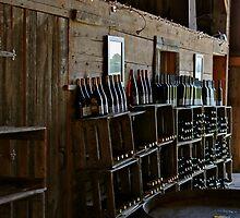 Wine bottles by Brenda Dickie