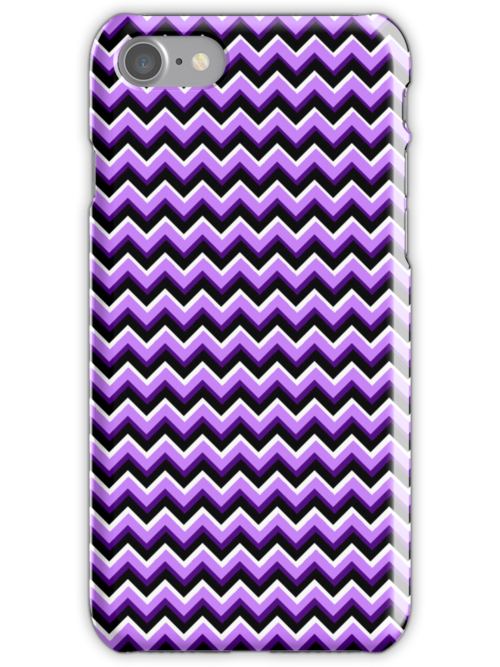 3D Chevron in Purples and Black by pjwuebker