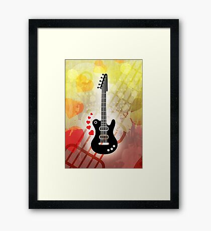 A Guitar for a Love Serenade Framed Print