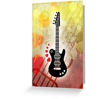A Guitar for a Love Serenade Greeting Card