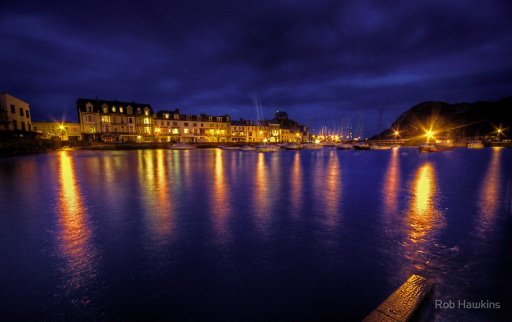 Ilfracombe Harbour by Night  by Rob Hawkins