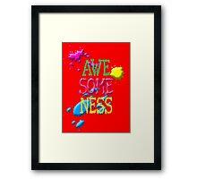 awesome Framed Print