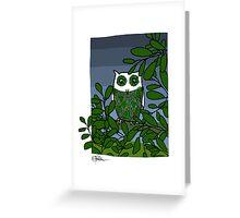 Owl at dusk Greeting Card