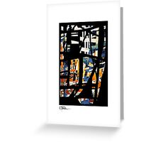 Abstract: Stained glass window Greeting Card