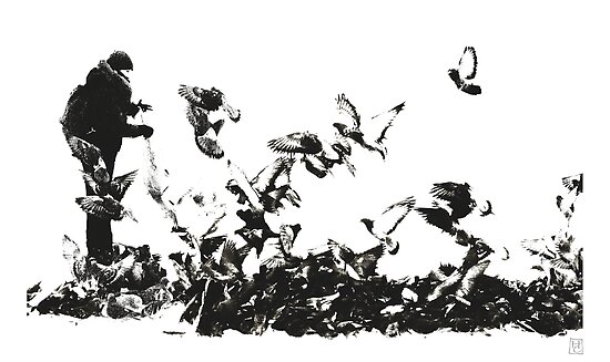 pigeons and doves by Nikolay Semyonov