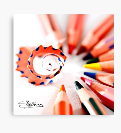 Pencil display Canvas Print