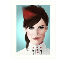Fierce Ruby Lucas. Art Print