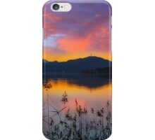 Dusk at Lake Wörthersee iPhone Case/Skin