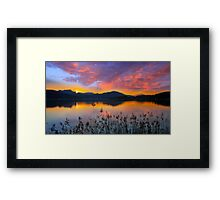 Dusk at Lake Wörthersee Framed Print