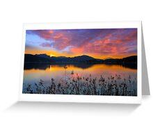 Dusk at Lake Wörthersee Greeting Card
