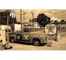 Route 66 - Shea's Gas Station Photographic Print