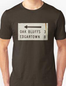 Oak Bluffs Edgartown Road Sign Martha's Vineyard T-Shirt