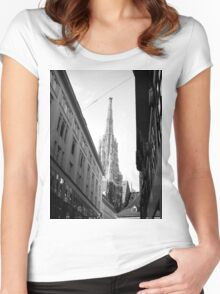 Saint Stephens Cathedral - Vienna Women's Fitted Scoop T-Shirt