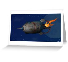Retro Rocketshop Greeting Card