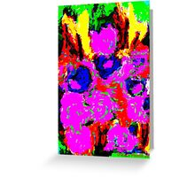 Abstract Flower Design Greeting Card