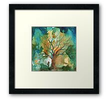 Tree and His Person Framed Print