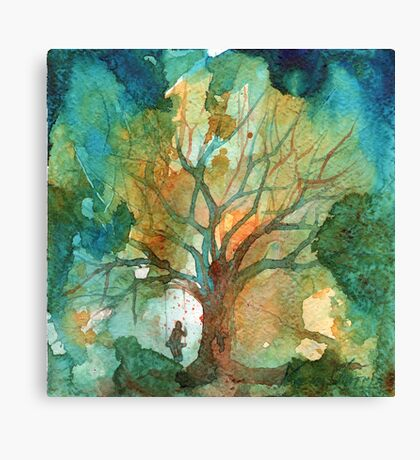 Tree and His Person Canvas Print
