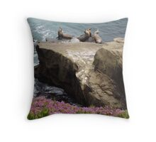 Sunbathers - Flora & Fauna                                                                       Throw Pillow