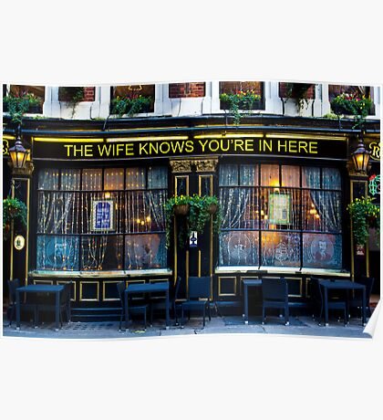 The wife Knows Pub Poster