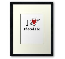I love chocolate valentines day tee  Framed Print