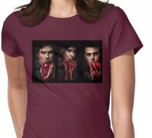 The vampire diaries-Elena,Damon,Stefan Womens Fitted T-Shirt