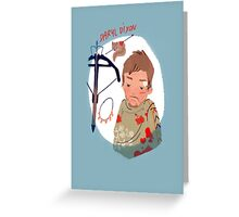 As you can not love a crossbow? Greeting Card