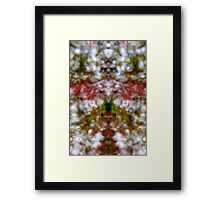 Abstract kaleidoscope figure and faces Framed Print