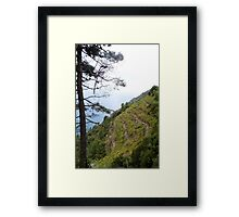 Foggy Morning in Cinque Terre Framed Print