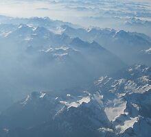 Birds View on the Alps by vivendulies