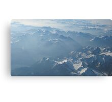 Birds View on the Alps VRS2 Canvas Print