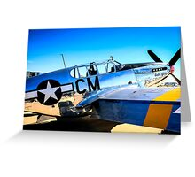 P51C Mustang WWII Fighter Plane Greeting Card