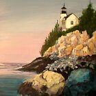 Bass Harbor Light by Janet Glatz
