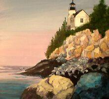 Bass Harbor Light by Janet Glatz