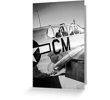 B/W P51C Mustang WWII Fighter Plane Greeting Card