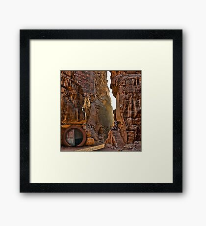 In the Canyon before Smaug Framed Print