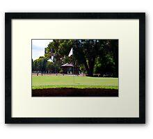 Where do golfers go when they die? Framed Print