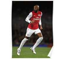 Thierry Henry Arsenal 2012 Poster Poster