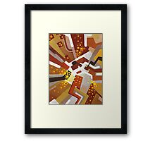 Autumn Nova - Abstract Acrylic Canvas Painting Framed Print