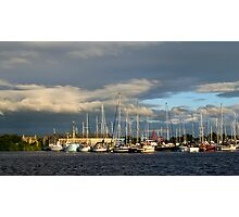 The Golden Hour At Glasson Marina Photographic Print
