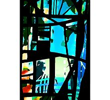Abstract: Stained glass window 2 by LizPoulain