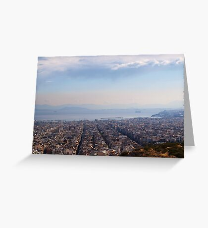 View to Athens Harbor (Greece) VRS2 Greeting Card