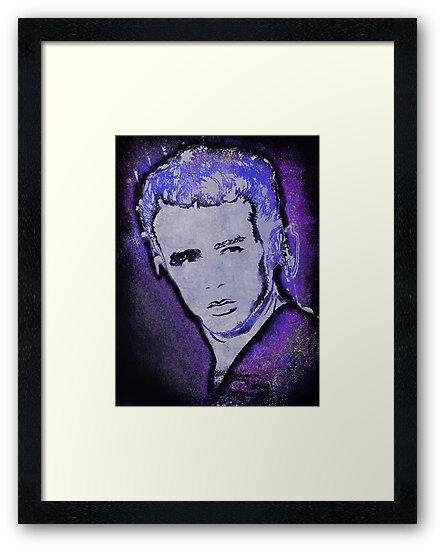 Grungy Jimmy Dean in purple by JillySB